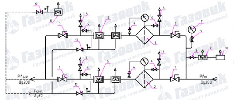 Функциональная схема ПГБ-200-2У1